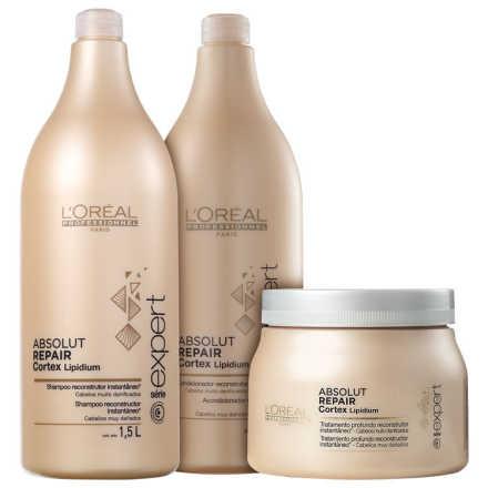 L'Oréal Professionnel Absolut Repair Cortex Lipidium Kit Salão (3 Produtos)