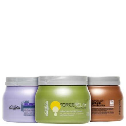 L'Oréal Professionnel Cronograma Capilar Liso Intenso Kit (3 Produtos)