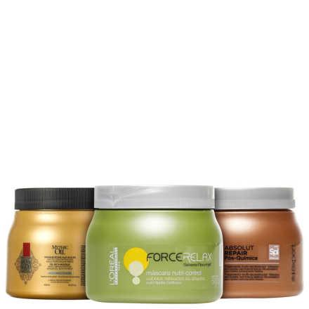 L'Oréal Professionnel Cronograma Capilar Pós-Química Kit (3 Produtos)