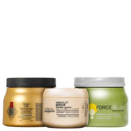 L'Oréal Professionnel Cronograma Capilar Restauração Intensa Kit (3 Produtos)