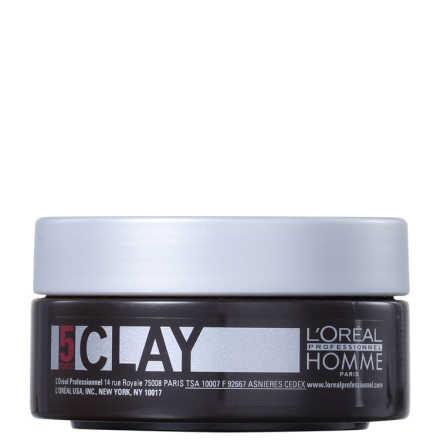 L'Oréal Professionnel Homme Clay Force 5 - Pasta de Fixação Forte 50ml