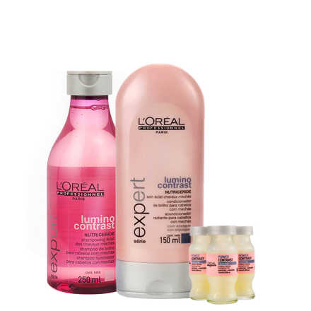 L'Oréal Professionnel Lumino Contrast Color Repair Kit (3 Produtos)