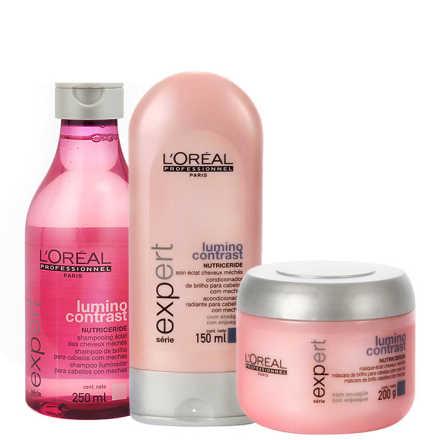 L'Oréal Professionnel Lumino Contrast Shine Treatment Kit (3 Produtos)