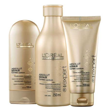 L'Oréal Professionnel Absolut Repair Cortex Lipidium Blow-Dry Kit (3 Produtos)