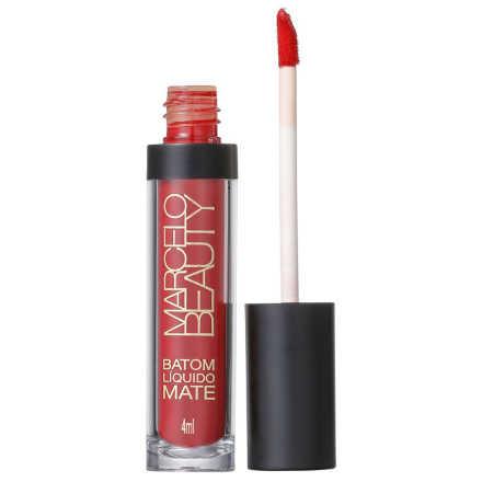 Marcelo Beauty Ultra Mate Vermelho Rubi - Batom Líquido 4ml