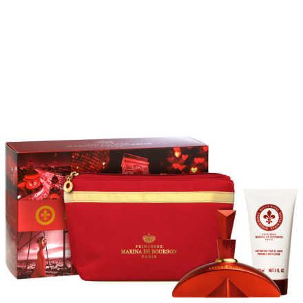 Conjunto Rouge Royal Marina de Bourbon Feminino - Eau de Parfum 100ml + Loção Corporal 150ml + Nécessaire