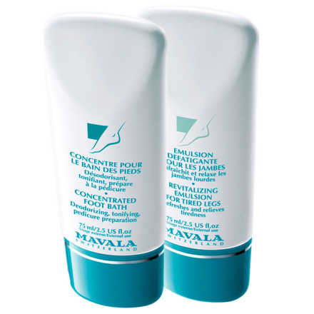Mavala Concentrated Foot Bater e Revitalizing Emulsion for Tired Legs (2 Produtos)