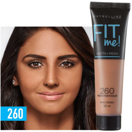 Maybelline Fit Me! Toque Matte + Fresh 260 - Base Líquida 35ml