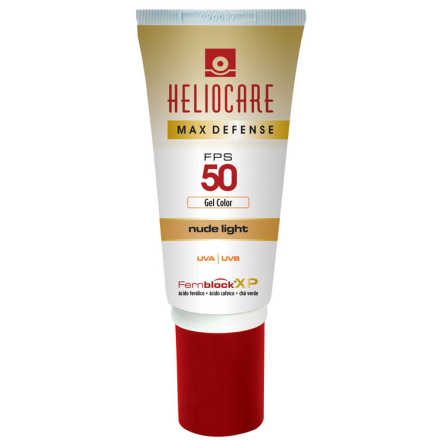 Melora Heliocare Max Defense Gel Color Fps 50 Nude Light - Protetor Solar 50g