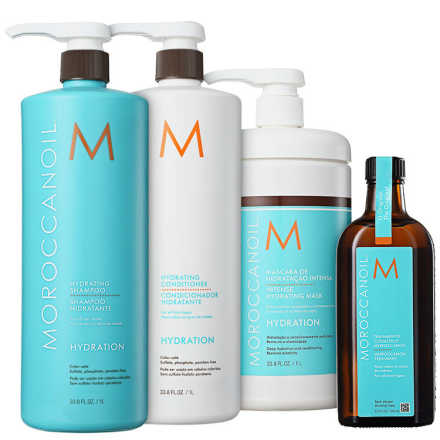 Moroccanoil Hydrating Treatment Kit (4 Produtos)