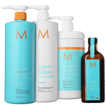 Moroccanoil Moisture Repair Treatment Kit (4 Produtos)