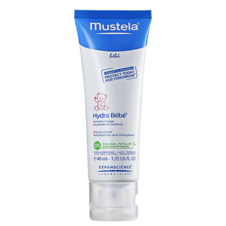 Mustela Bebé Hydrabebê Rosto - Leite Hidratante Facial 40ml