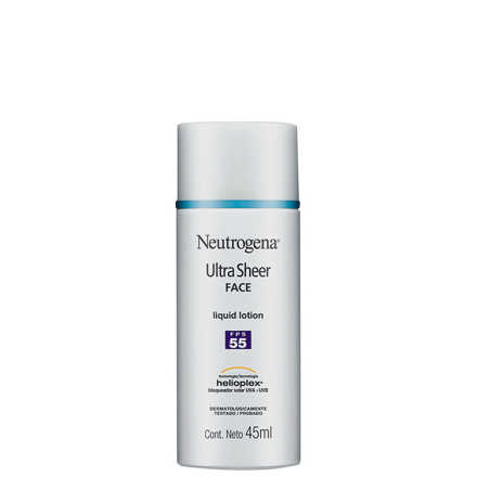 Neutrogena Ultra Sheer Liquid Lotion - Protetor Solar Facial FPS 55 45ml