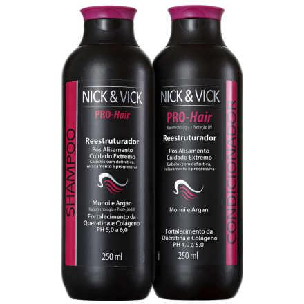 Nick & Vick PRO-Hair Reestruturador Fim dos Danos Kit (2 Produtos)