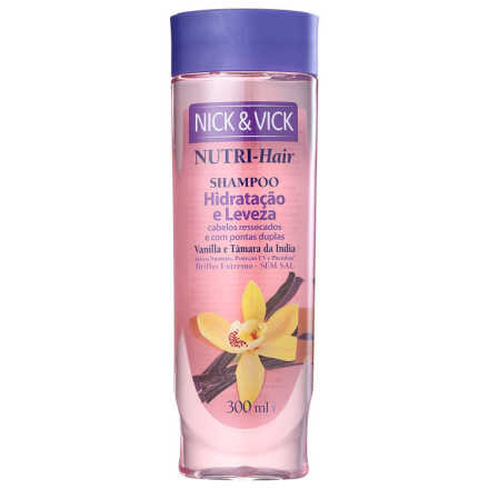 Nick & Vick NUTRI-Hair Hidratação e Leveza - Shampoo 300ml