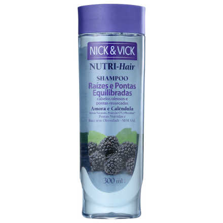 Nick & Vick NUTRI-Hair Raiz e Pontas Equilibradas - Shampoo 300ml