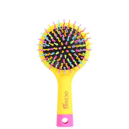 Océane Femme Rainbow Brush Amarela - Escova Almofadada Pequena
