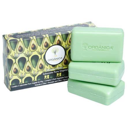Orgânica 3 Sabonetes Abacate e Oliva Kit (3 Produtos)