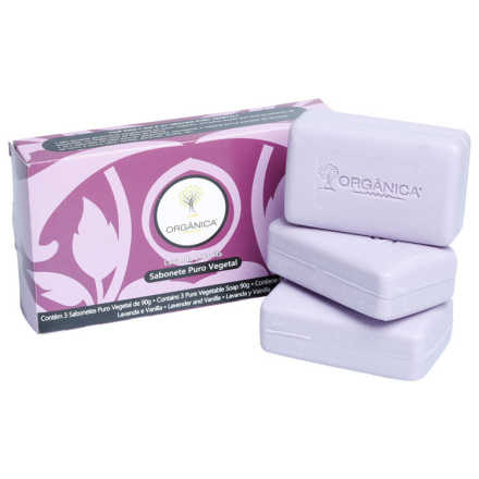 Orgânica 3 Sabonetes Lavanda e Vanilla Kit (3 Produtos)