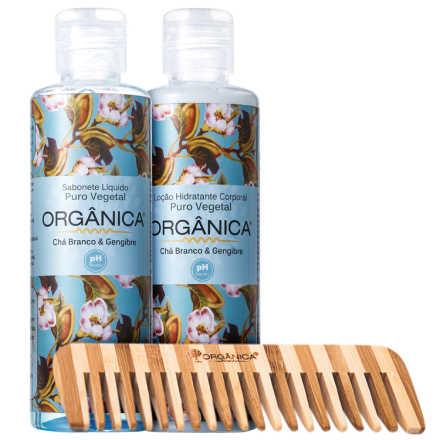 Orgânica Set Chá Branco e Gengibre Kit (3 Produtos)