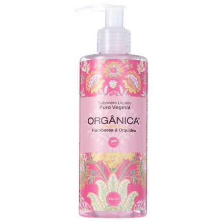 Orgânica Puro Vegetal Framboesa e Orquídea - Sabonete Líquido 250ml