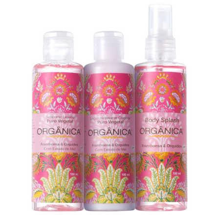 Orgânica Tri Set Framboesa e Orquídea Kit (3 Produtos)