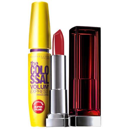 Maybelline The Colossal Color Sensational Kit Vermelho (2 Produtos)