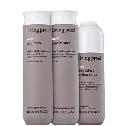 Living Proof No Frizz Weightless Kit (3 Produtos)