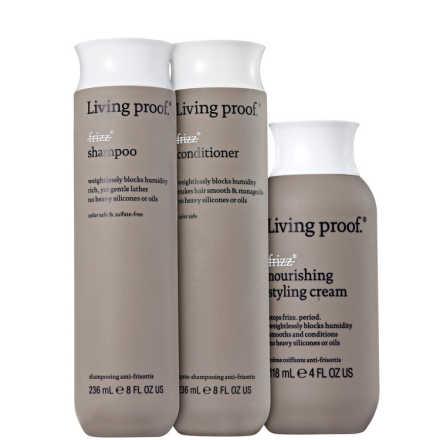 Living Proof No Frizz Nourishing Styling Kit (3 Produtos)