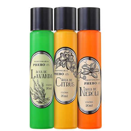 Conjunto Perfumaria Águas de Cítrico Unissex - Eau de Cologne 3x 20ml