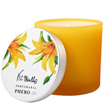 Phebo Perfumaria Vic Meirelles Flor do Tomate com Sândalo - Vela Perfumada 180g