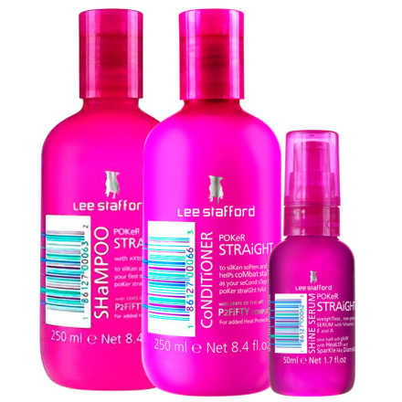 Lee Stafford Poker Straight Cleansing & Shine Kit (3 Produtos)