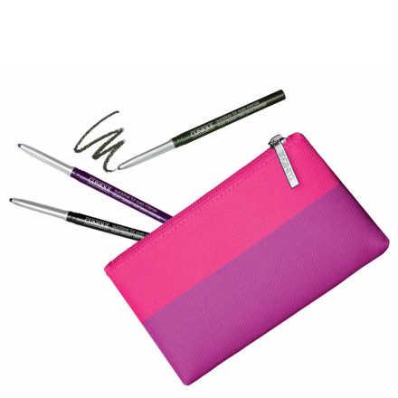Clinique Quickliner Intense Color Kit - Lápis de Olhos 14gr (3 Produtos + Nécessaire)