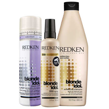 Redken Blonde Idol Shine and Color Kit (3 Produtos)