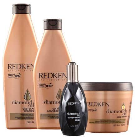 Redken Diamond Oil Facets Shine Kit (4 Produtos)