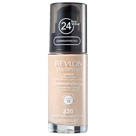 Revlon ColorStay Pele Mista e Oleosa Natural Beige - Base Líquida 30ml