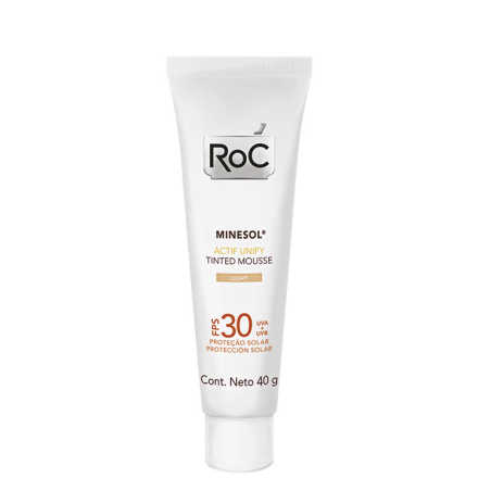 RoC Minesol Actif Unify Tinted Mousse Light - Protetor Solar Facial FPS 30 40g