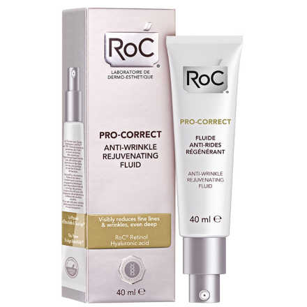 Roc Pro-Correct Anti-Wrinkle Rejuvenating Fluid - Fluido Facial Anti-idade 40ml