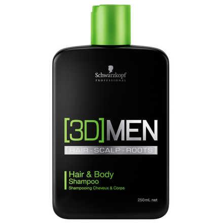 Schwarzkopf Professional 3D Men Hair & Body - Shampoo 250ml