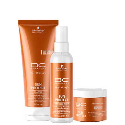 Schwarzkopf Professional BC Bonacure Sun Protect Spray Treatment Kit (3 Produtos)