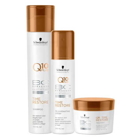 Schwarzkopf Professional BC Bonacure Q10 Time Restore Spray Kit (3 Produtos)