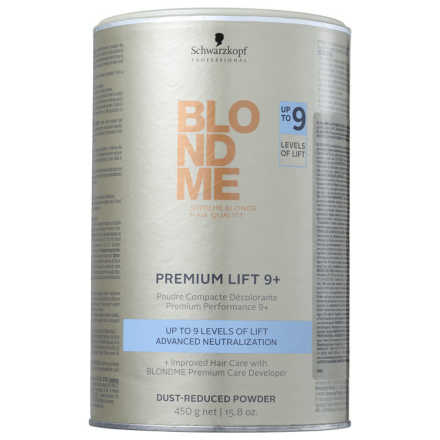 Schwarzkopf Professional Blond Me Premium Lift 9 Plus Dust Reduced Powder - Pó Descolorante 450g