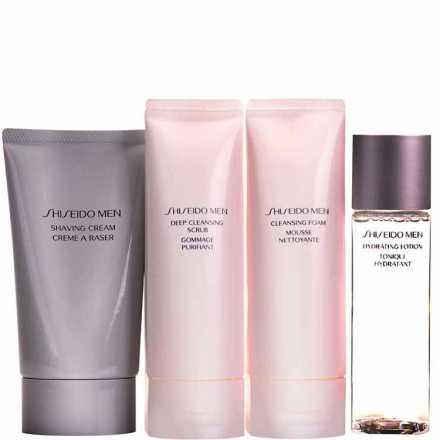 Shiseido Men Clean Kit (4 Produtos)