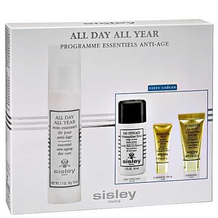Sisley All Day All Year Anti-Aging Essentials Program Kit (4 Produtos)