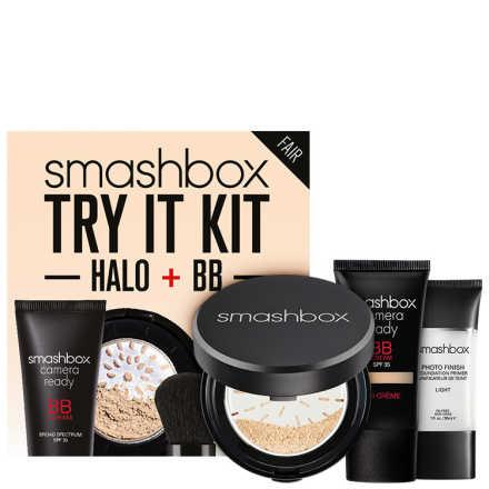 Smashbox Try It Kit: BB + Halo Fair - Make Up Kit (3 Produtos)