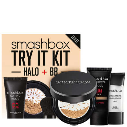 Smashbox Try It Kit: BB + Halo Light - Make Up Kit (3 Produtos)