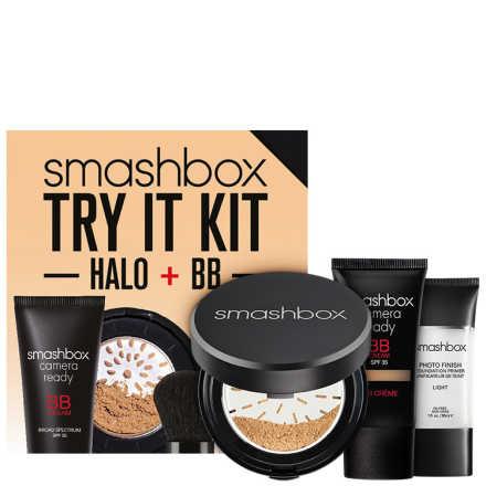 Smashbox Try It Kit Light/Medium: BB + Halo - Make Up Kit (3 Produtos)