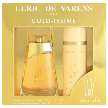 Conjunto Gold-Issime Ulric de Varens Feminino - Eau de Parfum 75ml + Desodorante 125ml