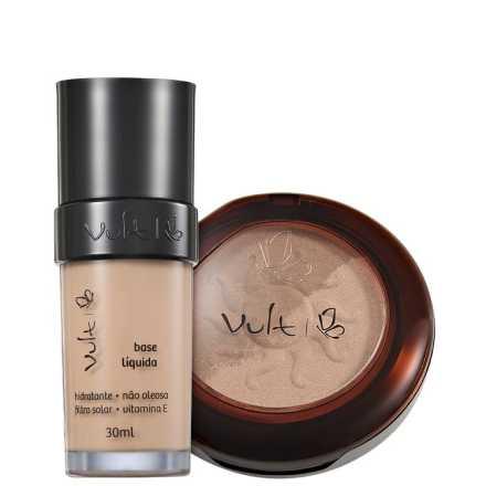 Vult Make Up 01 Bege Iluminador e Bronzant Duo Kit (2 Produtos)