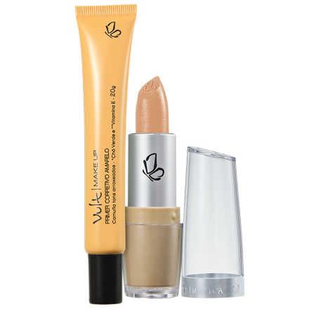 Vult Make Up Corretivo Primer Amarelo Kit (2 Produtos)